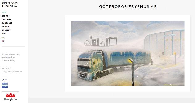 Hemsida för Göteborgs Fryshus